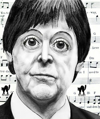 MANGA MACCA! (Happy B-day, Sir!) (The PIX-JOCKEY (visual fantasist)) Tags: birthday portrait music celebrity art photoshop star joke manga picture fake humour pop vip photomontage chop caricature beatles paulmccartney fotomontaggi drawning robertorizzato pixjockey