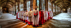 Choristers in the Cloisters (cathedralchoir) Tags: boys choristers w777 cathedralchoir