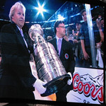 Stanley Cup coming onto the ice thumbnail