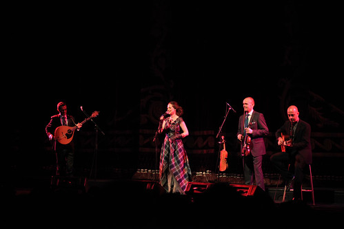 Julie Fowlis and band onstage for the introduction of Brave at the Festival Theatre