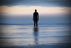 Alone. Crosby (Ianmoran1970) Tags: sea beach water statue river place tide statues ironman oil another mersey crosby anthonygormley hss anotherplace ironmen ianmoran ianmoran1970