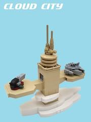 Micro Star Wars: Cloud City Landing Pad (2 Much Caffeine) Tags: starwars lego micro bespin cloudcity moc milleniumfalcon slave1 microscale