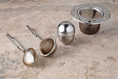 DSC_8324A - Tea Strainers (With Added Reflector) (PryanksterDave (Dave Price)) Tags: tea spoon practice 2012 strainer infuser strobist lightingessentials