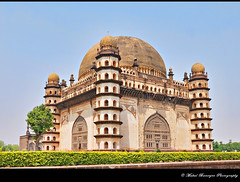 Gol Gumbaz -6, Bijapur, Karnataka (Mukul Banerjee (www.mukulbanerjee.com)) Tags: world light india heritage history classic tourism archaeology monument beautiful architecture photography photo ancient nikon asia arch pics indian south muslim islam traditional tomb wide mahal arches mosque tourist retro worldheritagesite photographs empire burial historical tradition dslr karnataka masjid wonders emperor medival bharat islamic worldheritage southindia southasia adilshah 1541 d60 sigma1020mm northkarnataka historicindia bijapur wondersoftheworld golgumbaz banerjee historicalindia nikond60 indianheritage ibrahimrauza hindusthan medivalindia bymukulbanerjee mukulbanerjee mukulbanerjee  mukulbanerjeephotography mukulbanerjeephotography wwwmukulbanerjeecom wwwmukulbanerjeecom