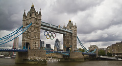 From the South bank (Through Bri`s Lens) Tags: london towerbridge riverthames 2012 olympicgames london2012 canon18200 canon7d