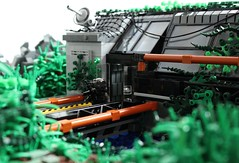 Overgrown (✠Andreas) Tags: lego military scene jungle darkwater junglescene researchlab thepurge thepurgedarkwater jungleresearch
