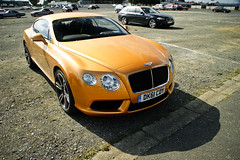 Orange pepper (2KP) Tags: auto orange france classic cars car continental voiture mans le autos gt supercar v8 bentley voitures 2012 sarthe