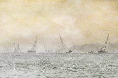 Painterly - Round the Island Race (s0ulsurfing) Tags: summer painterly texture june clouds boats island coast boat sailing yacht horizon sails isleofwight boating sail yachts yarmouth fleet isle wight 2012 yachting flotilla westwight flypaper roundtheisland s0ulsurfing rtir coastuk jpmorganassetmanagementroundtheislandrace roundtheislandyachtrace welcomeuk roundtheislandrace2012