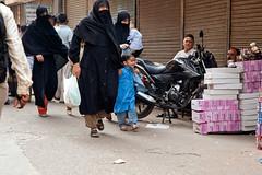 Happy Child _6188 (hkoons) Tags: woman india black clothing women worship dress god taxi delhi muslim islam prayer religion hijab gods centralasia deity allah newdelhi burqa burkha ntc attire beliefs burka burqua