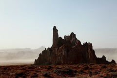 Rock Formation With Blowing Sand - US160 Near Kayenta, Arizona (Brian Callahan (Luxgnos.com)) Tags: arizona photography redrocks kayenta blowingsand haboob us160 briancallahan shinsanbc luxgnosis luxgnos luxgnosiscom