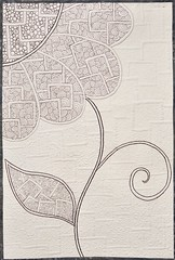 July 2012 FMQ Challengle (Olga Kuba) Tags: motif tile design pattern quilt sewing machine fabric daisy freemotionquilting fmq zentangle