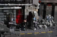 ODST (✠Andreas) Tags: lego halo scene elite diorama brickarms odst haloodst legoodst legoelite brickarmshalo h3br