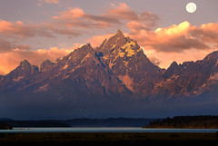 One Teton Morning (Deby Dixon) Tags: morning travel lake mountains tourism nature sunrise outdoors photography nikon glaciers rockymountains tetons deby allrightsreserved 2012 grandtetonnationalpark jacksonlake thegrand willowflats debydixon debydixonphotography