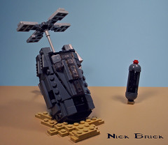 Halo ODST Drop Pod (Nick Brick) Tags: 3 pod lego halo drop single weapon vehicle insertion occupant brickarms odst brickforge exoatmospheric soeiv