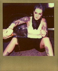 Ritzy_Peach thugPola004 (Onelog Photography) Tags: lighting sexy film tattoo polaroid losangeles friendship nashville gang hardcore 600 40 shotgun bandana impala handgun gangsta speedlight pinup brassknuckles acros rollin pushprocessed baller goldframe thelmaandlouise princesspeach ritzyriot