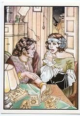Biancamaria Rizzoli, 1984 (Renato Morselli) Tags: paper magic lettura destino carta maga futuro strega magia tarocchi cartoline cartomante biancamaria