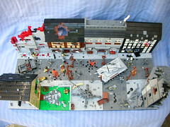 Saint Lo (Cool Whip) Tags: city saint buildings soldier town big cool tank lego jeep destruction wwii battle lo german whip ww2 motor build cod destroyed axis overview panzer allies amercian moc brickarms flak88