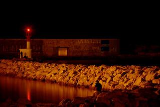 Lumières dans le port de Sète