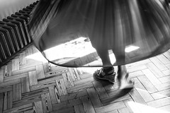 Dancing in the Sunlight (cathbooton) Tags: flowers light people music sunlight feet canon wooden dance clothing movement shoes shadows floor dancing action sandals indoor skirt shade twirl vase activity canoneos pleats mycanon canonphotography canonusers capturedmoment