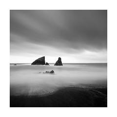 ^ ^ ~~ ^ (Nick green2012) Tags: blackandwhite seascape long exposure square moody ireland