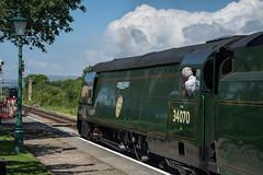 Harmans Cross Station 06 (Matt_Rayner) Tags: swanage railway 34070 manston sr battle of britain class steam train