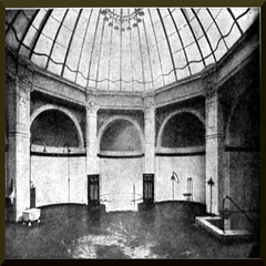 Historic shower bath (Turkish bath of public bath house, Germany) (ptlb0142) Tags: shower bath bathhouse swimmingpool bathtub tub history swimming pool houses