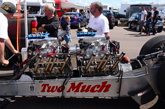 (Sam Tait) Tags: dragstalgia santa pod raceway england nostalgia drag racing two much twin engine fed front dragster blown supercharged