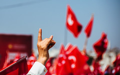 IMG_0509.JPG (esintu) Tags: yenikapi turkey istanbul protest rally wolf hand