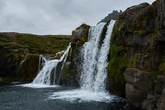 Kirkjufellsfoss (paolo-p) Tags: acqua water cascate waterfalls nuvole clouds kirkjufellsfoss islanda iceland