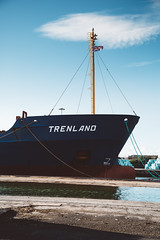 TRENLAND (I AM JAMIE KING) Tags: trenland anchor bow dock flag hul hull maritime mast port rope sailing ship shipping vessel albertdock westdock cargo