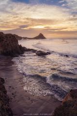 Over the sea (Fernando Hueso Photography) Tags: cabodegata almeria andalucia espaa spain sea seascape waves sunrise light mar oceano ocean lonely world nikon cape rocks mountain