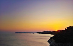 Back to Ithaca (versatile.artist#) Tags: sun sea blue red seascape greece corfu ithaca horizon sky island