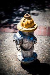little guy with yellow hat (oliver.nispel) Tags: street hydrant yellow hat little color urban urbex sacramento fd sf sffd cute