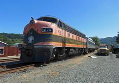 OCSR F7 at the depot in Girabaldi (pchurch92) Tags: garibaldi oregoncoastscenicrailway oregon oregoncoast girabaldi f7 gmd emd