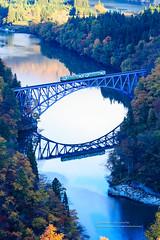 () Tags: canon 1dx ef70200mmf28isl     japan japanese style river bridge train  railway           maple