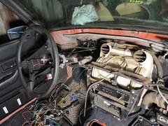 IMG_2622 (rat_fink) Tags: volvo 200 240 242 242dl 1975 interior dash dashboard rewire heaterbox steeringwheel