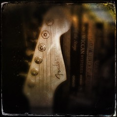 Hipsto-Stratocastic (Captain Creepy) Tags: fenderstratocaster books bookshelf wicca witchcraft waysofthestrega grimassi