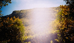 Flare in Italy. (carolinezy) Tags: film flare analog italy landscape nature mountain hill olympus am100 marche europe