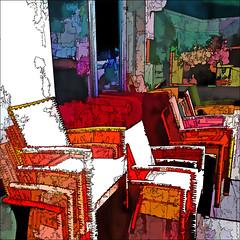 stacked chairs (j.p.yef) Tags: peterfey jpyef yef chairs armchairs streetcafe street cafe germany hamburg square digitalart