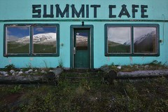 a peak dining experience (RhinoSkin) Tags: abandoned restaurant alaska highway