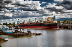 ANCASH QUEEN -55455-57--2 (Terry Frederic) Tags: canon5dmkiii day hdr lightroom661processed nikhdrefexpro oregon photoshop portland rivers riverscape ships swanislandbasin terryfrederic topazadjust5processed topazdenoiseprocessed usa willametteriver