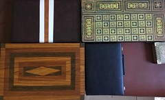 Few of my Backgammon boards the wooden one I made more than 32 years ago. (allanpar) Tags: backgammonboards backgammon