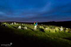 Power Up at Brisworthy Circle (entoptika) Tags: devon dartmoor stones stonecircle pixelstick light lightpainting entoptika stars brisworthy mario supermushroom powerup shrooms mushroom