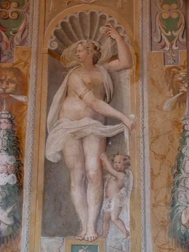 Tivoli - Villa d'Este, frescoes MUZIANO, reception room, Aphrodite