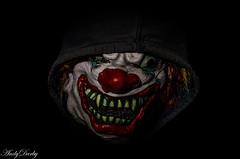 Killer Clown (Andy Darby) Tags: clown killer bosworth scary teeth mask dark hooded portrait