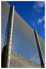 DSCF3101_v1 copy copy (Alan Sanders) Tags: alan sanders fuji xt1 xf23mm portland verne prison dorset weymouth fence barbed razor wire blue sky