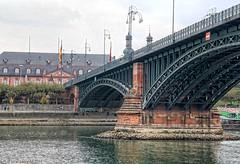 Theodor Heuss Bridge (Mainz-Wiesbaden) on the River Rhine (PhotosToArtByMike) Tags: theodorheussbridge mainzgermany mainzwiesbaden bridge archbridge mainzkastel wiesbaden mainz germany rhine rhineriver rhinelandpalatinate electorateofmainz holyromanempire
