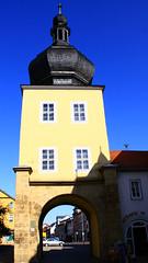 (:Linda:) Tags: tower germany town thuringia spire archway saalfeld slateshingled