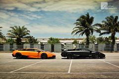 Double Awesome (anType) Tags: orange sports car asia flat f1 exotic malaysia kualalumpur lamborghini luxury coupe supercar sv sportscar sic murcielago v12 lambo murci matteblack sepanginternationalcircuit worldcars superveloce arancioatlas lp6704 neronemesis