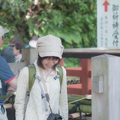 Camera girl (kasa51) Tags: street camera city people woman girl japan digital lumix photographer kamakura panasonic f18 olympuspen 45mm gf1  mzuiko